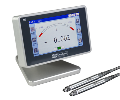M2 : Electronic comparator for 2 gauging probes with graphic color display